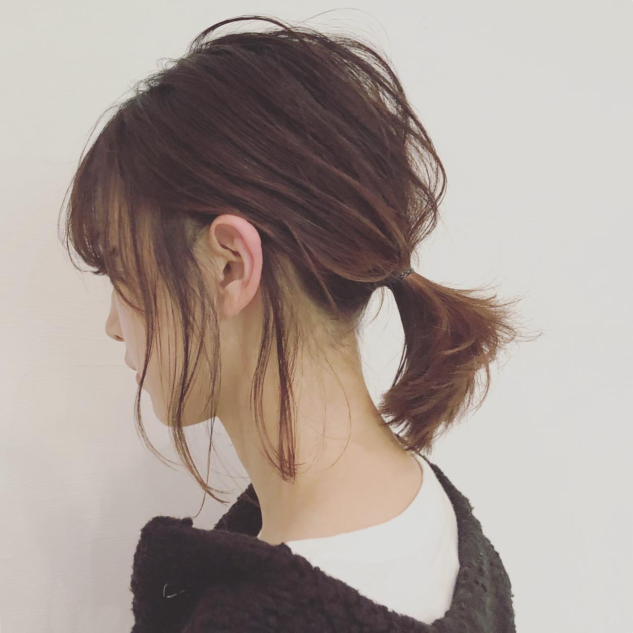 一つ結び簡単可愛いヘアアレンジ特集♡ストレートも5分でこなれヘアの7枚目の画像