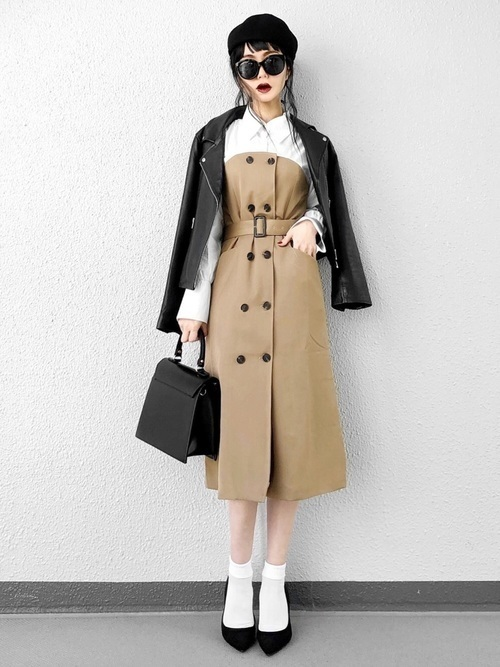 媚びないスタイルが人気♡甘辛コーデで楽しむファッションの3枚目の画像