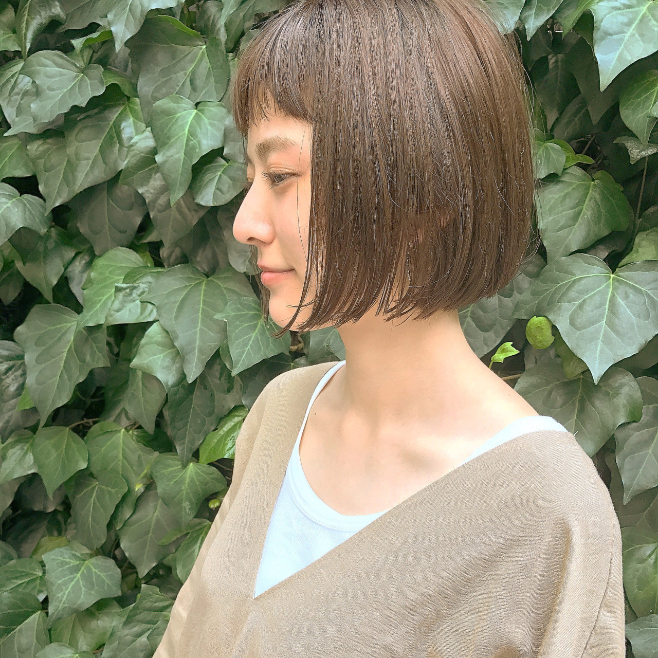 なりたいイメージ別!【オン眉×ショートボブ】のヘアカタログ♪の8枚目の画像