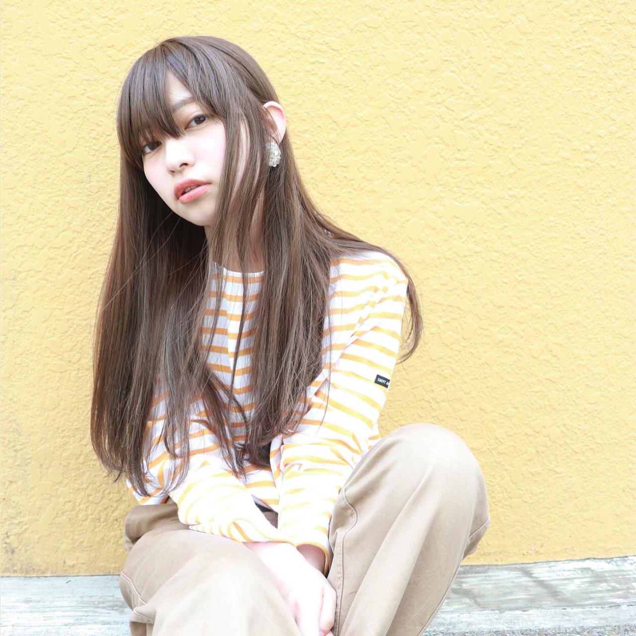 ミルクティーブラウンでブリーチなしでもかわいい髪色に♡の7枚目の画像