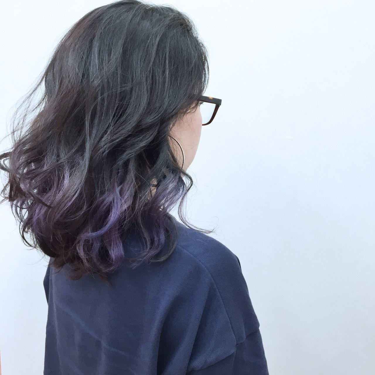 紫のヘアカラー特集♡甘ずっぱいベリーのような愛されヘアにの6枚目の画像