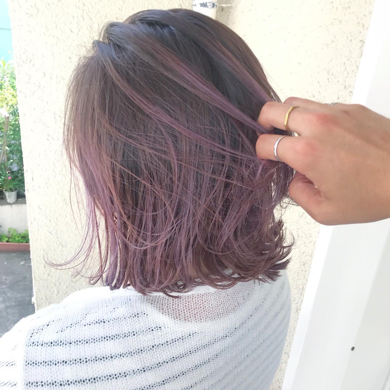 紫のヘアカラー特集♡甘ずっぱいベリーのような愛されヘアにの9枚目の画像