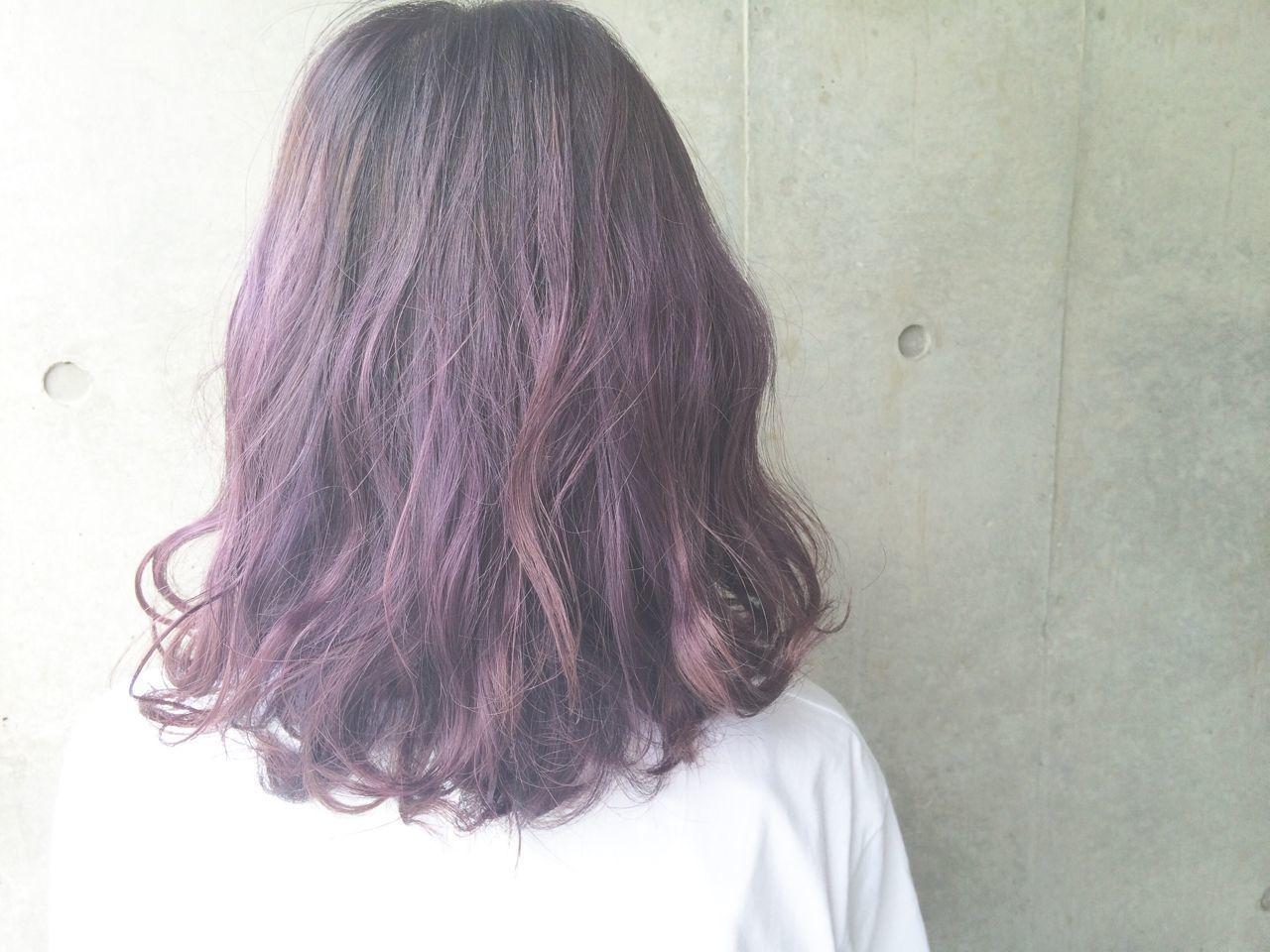 紫のヘアカラー特集♡甘ずっぱいベリーのような愛されヘアにの12枚目の画像