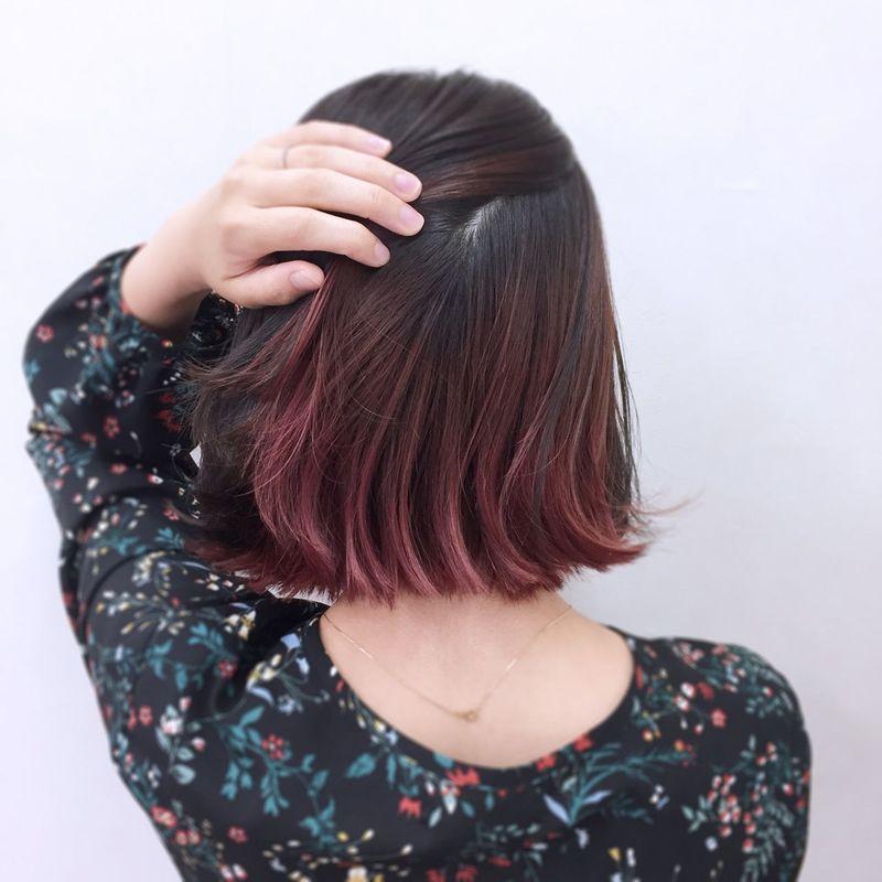 【レングス別27選】2019年版ピンクのインナーカラーにきゅん♡