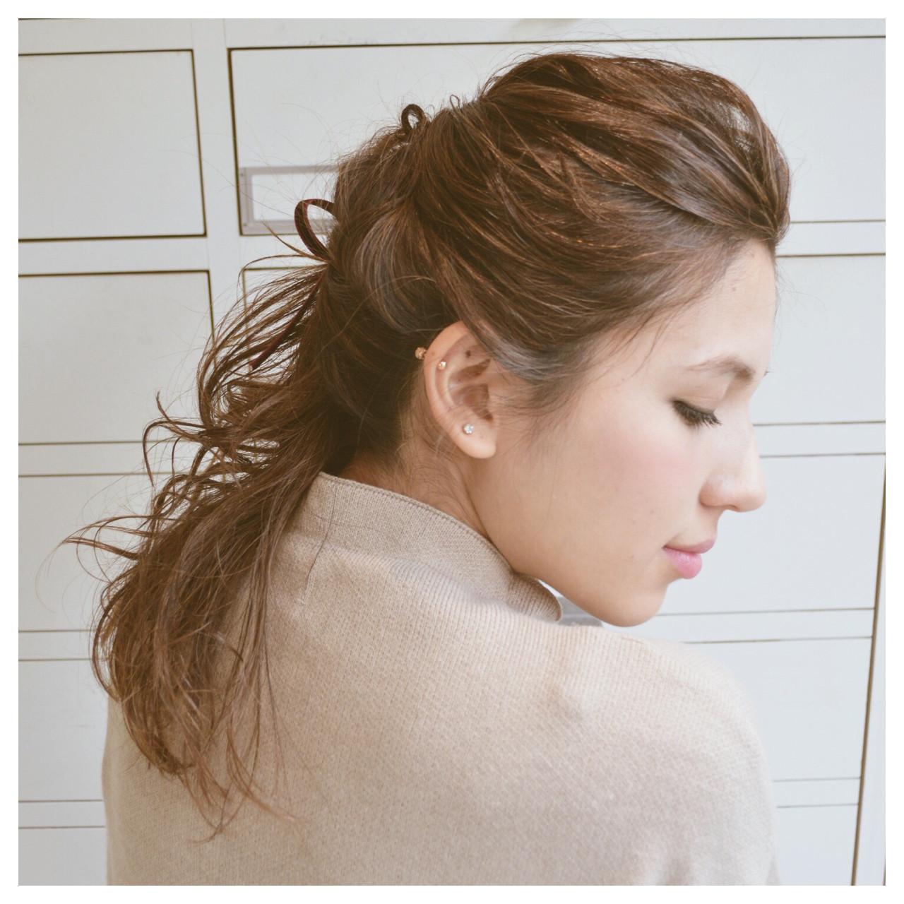 一つ結びで簡単おしゃれヘア!ストレートでも可愛いこなれヘア特集♡の15枚目の画像
