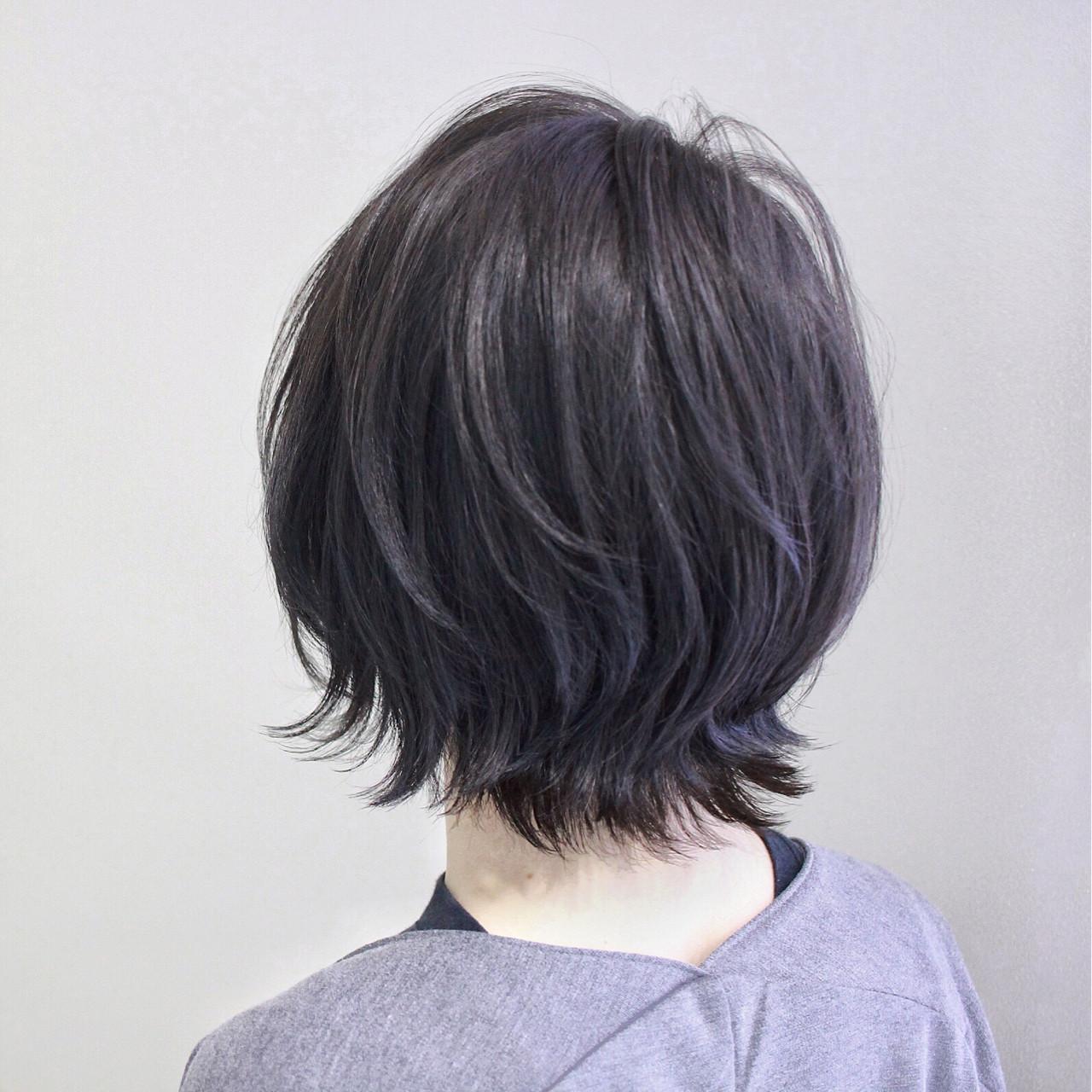 2020 黒髪ベースのグラデーションカラー レングス別カタログ Arine