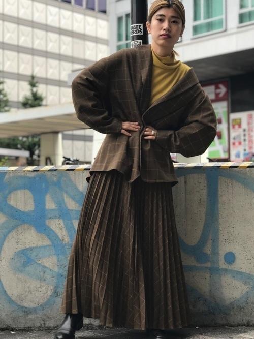 どう着こなす?グレンチェックジャケットでレディースコーデ20選の4枚目の画像