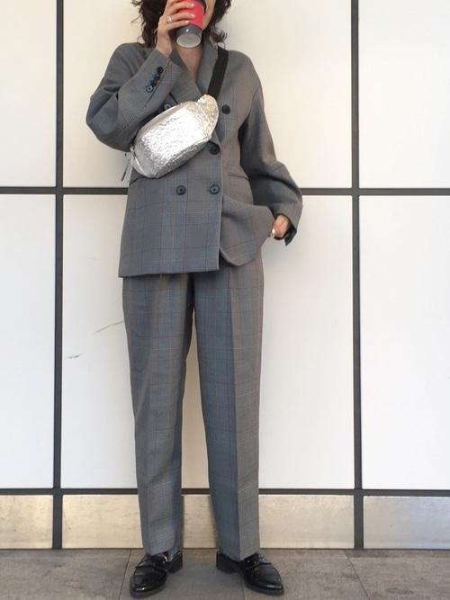 どう着こなす?グレンチェックジャケットでレディースコーデ20選の16枚目の画像