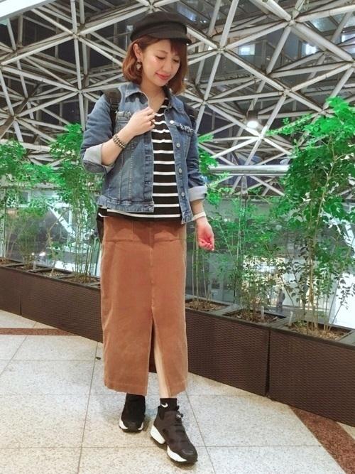 【コーデュロイスカート】季節別コーデ27選 ユニクロも紹介!の22枚目の画像