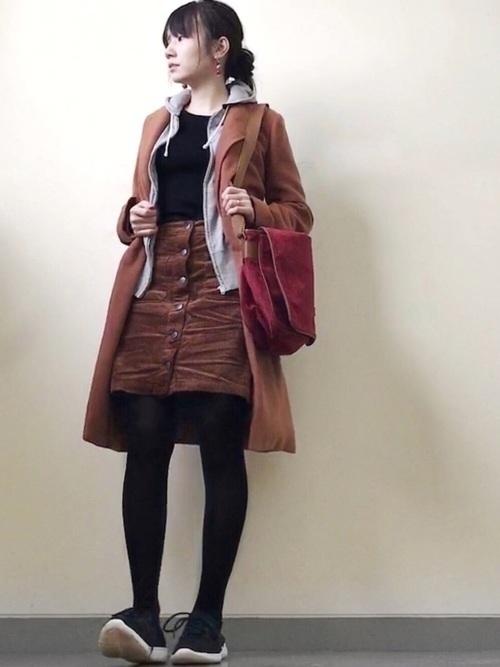【コーデュロイスカート】季節別コーデ27選 ユニクロも紹介!の29枚目の画像