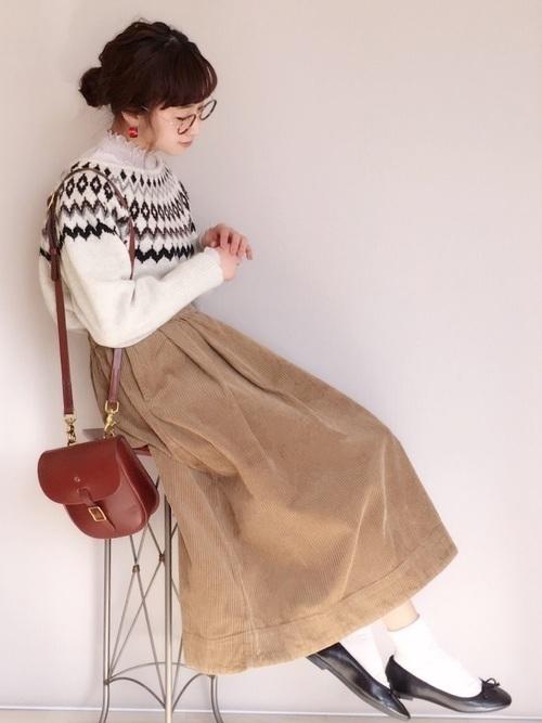 【コーデュロイスカート】で秋冬おしゃれを制覇せよ!♡の29枚目の画像
