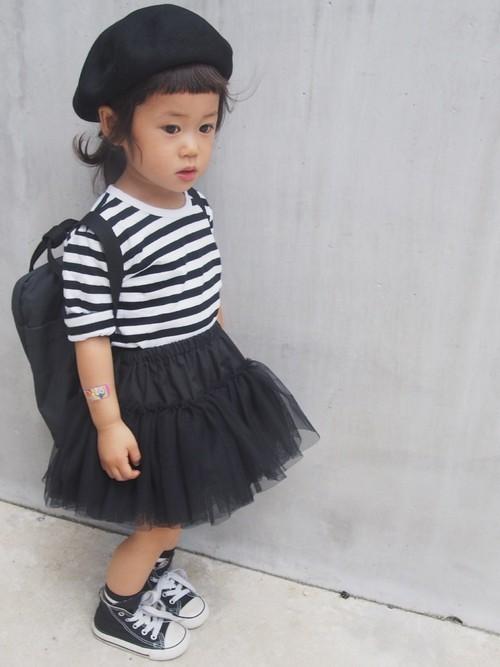 【女子の憧れ】フワっと揺れる黒チュールスカートのコーデをご紹介♡の25枚目の画像