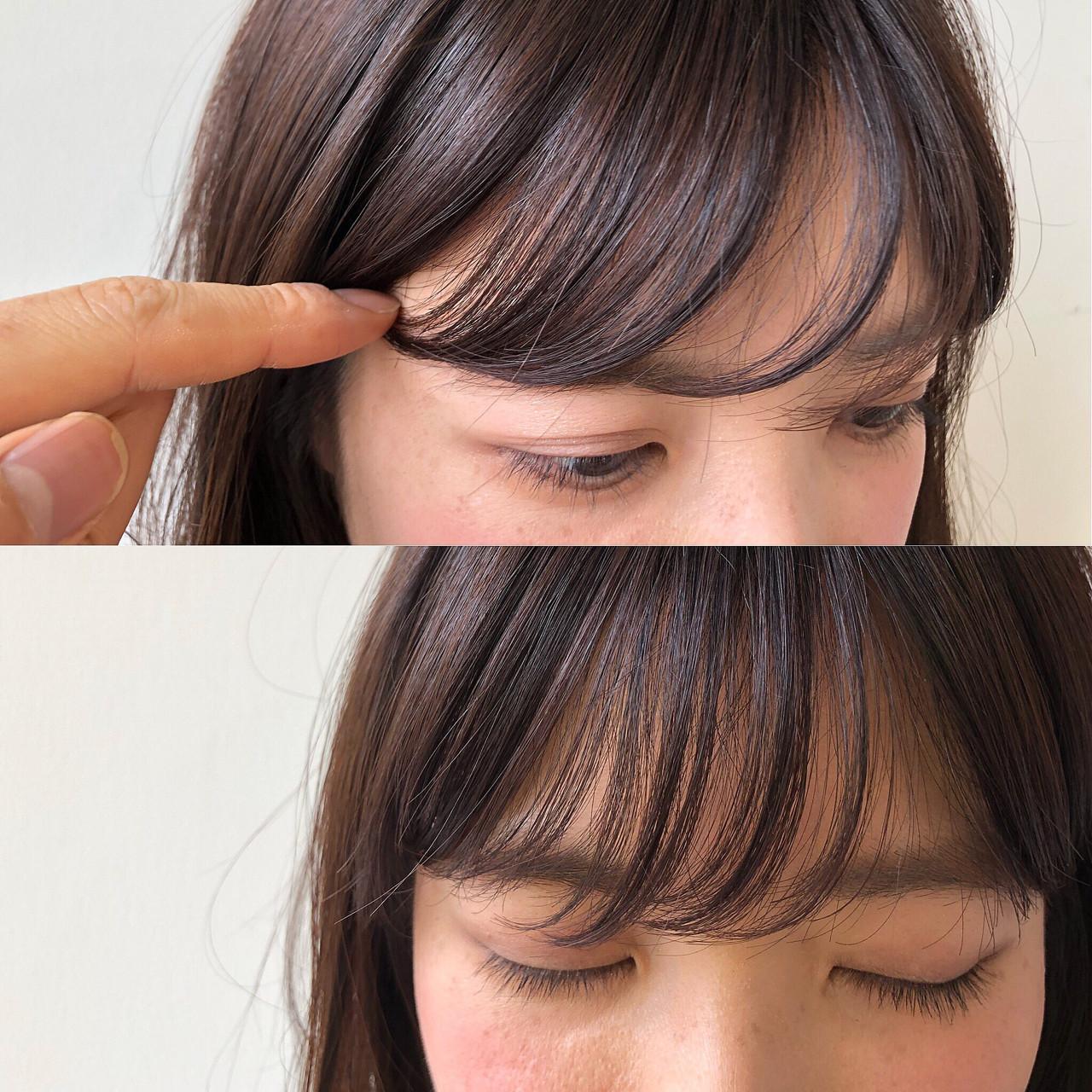 話題のモテヘア。薄め前髪【シースルーバング】に恋する予感…♡の6枚目の画像