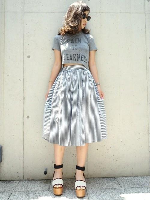 1着はもっていたい!ストライプスカートで作る旬顔コーデ25選♡の6枚目の画像