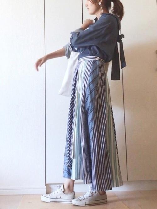 1着はもっていたい!ストライプスカートで作る旬顔コーデ25選♡の10枚目の画像