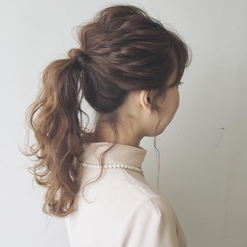 ポニーテールの後れ毛の巻き方♡コテ編 , 見て♡って自慢したく