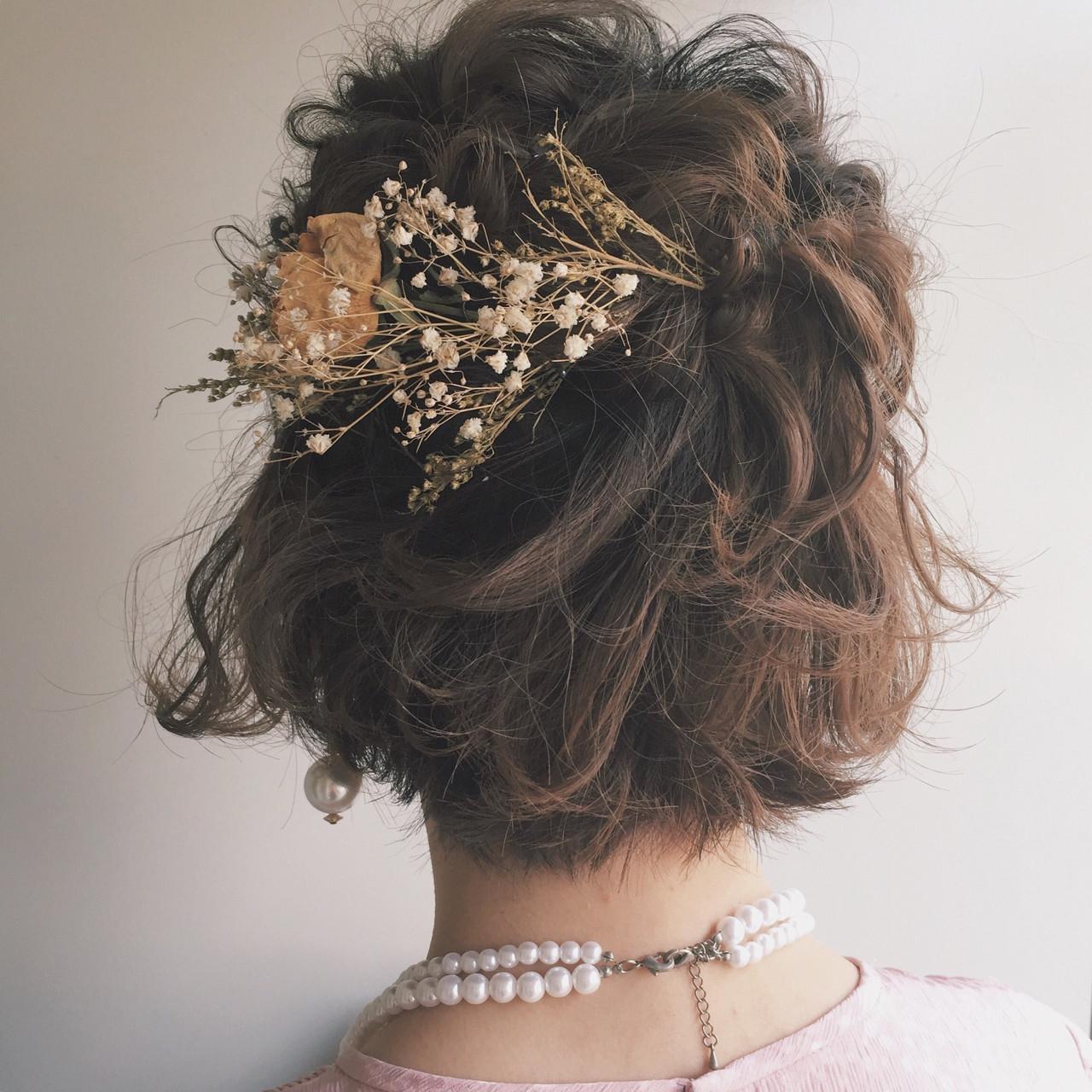 結婚式のヘアセットは自分で♡ハーフアップの簡単セルフ ...
