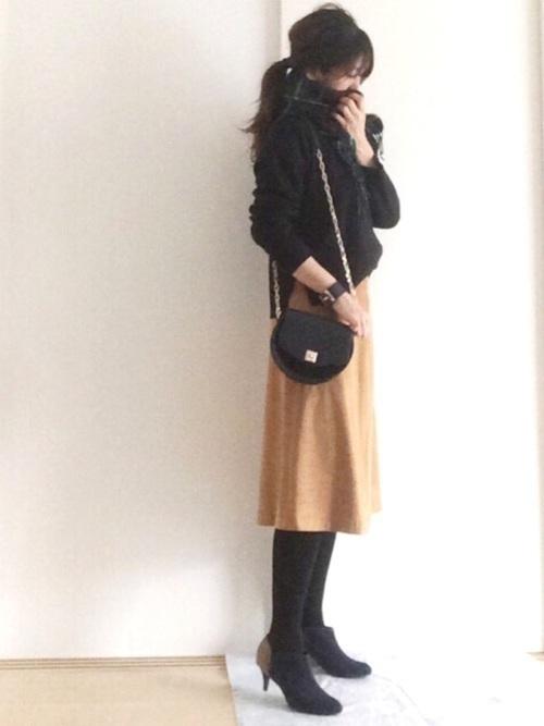秋冬のスエードスカートコーデ22選&人気スエードスカートご紹介♡の3枚目の画像