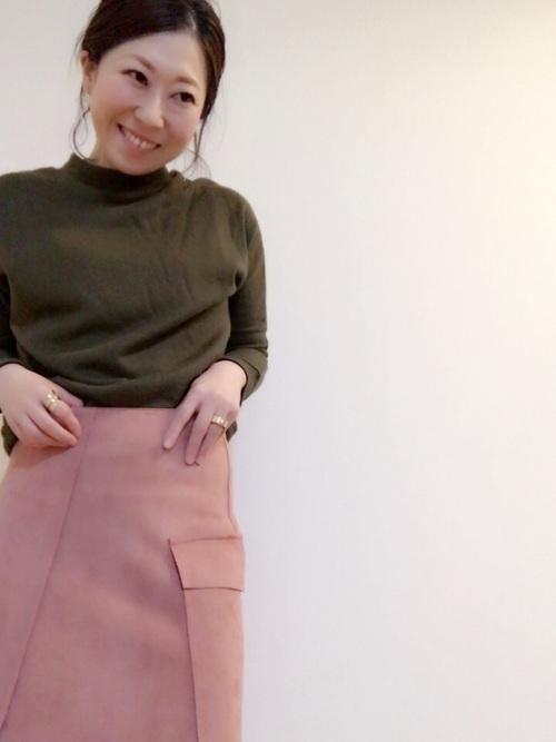 秋冬のスエードスカートコーデ22選&人気スエードスカートご紹介♡の8枚目の画像