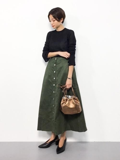 秋冬のスエードスカートコーデ22選&人気スエードスカートご紹介♡の9枚目の画像