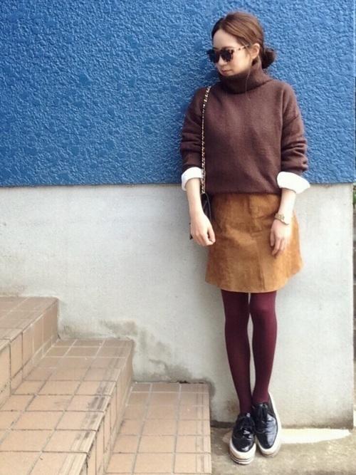 秋冬のスエードスカートコーデ22選&人気スエードスカートご紹介♡の12枚目の画像