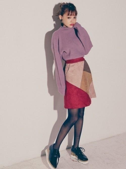 秋冬のスエードスカートコーデ22選&人気スエードスカートご紹介♡の16枚目の画像