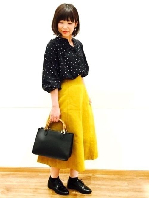 秋冬のスエードスカートコーデ22選&人気スエードスカートご紹介♡の17枚目の画像