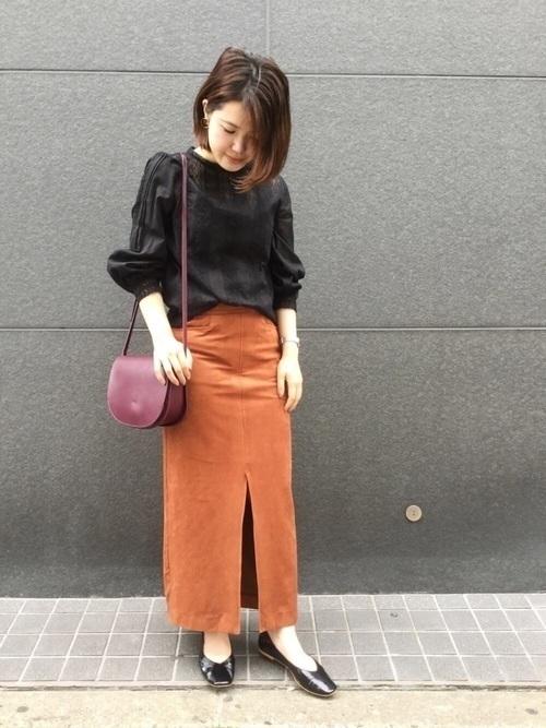 秋冬のスエードスカートコーデ22選&人気スエードスカートご紹介♡の23枚目の画像