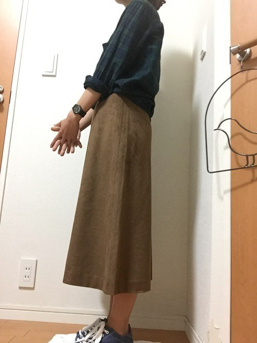 秋冬のスエードスカートコーデ22選&人気スエードスカートご紹介♡の25枚目の画像