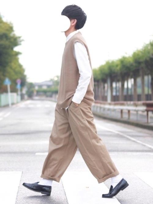 ワントーンコーデでオシャレに☆【メンズ・レディース】厳選コーデ集の9枚目の画像