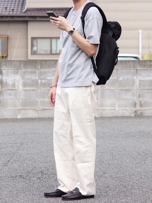 メンズ【白パンツ】のコーデ特集!着こなしポイントを伝授します! | ARINE [アリネ]