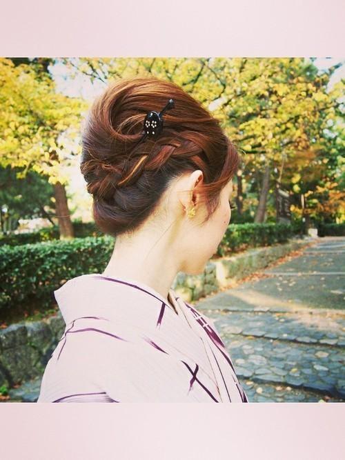 和装デートは夜会巻きで決まり♡夜会巻きヘアアレンジ特集の6枚目の画像