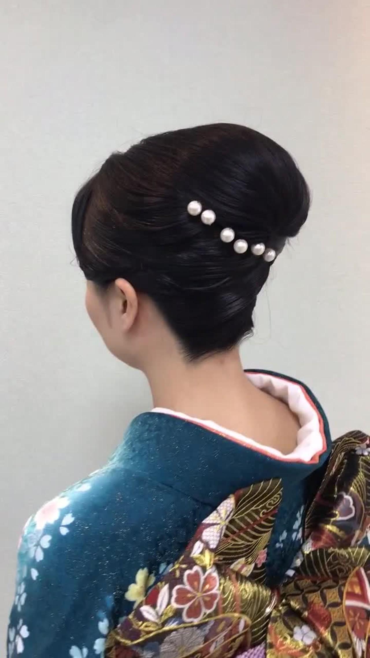 和装デートは夜会巻きで決まり♡夜会巻きヘアアレンジ特集の7枚目の画像