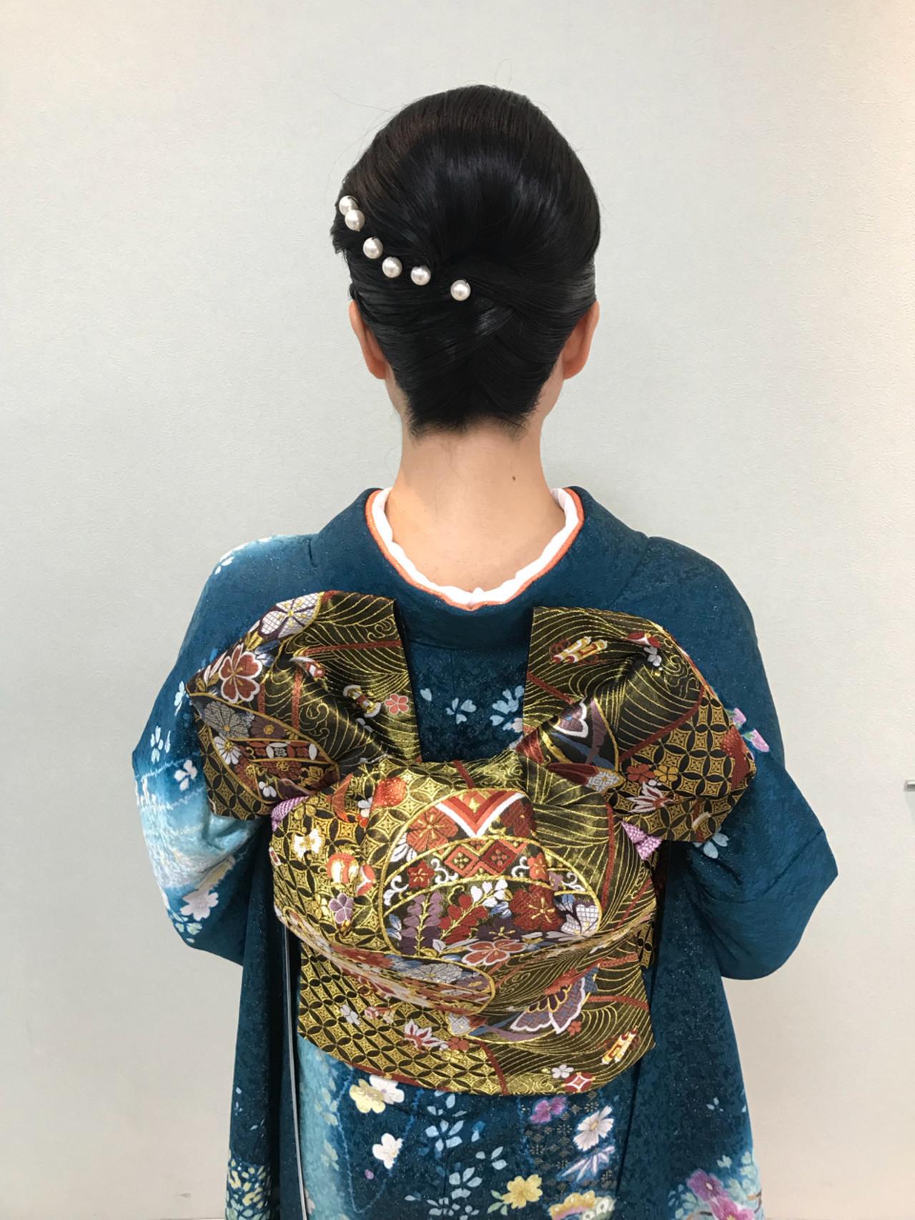 和装デートは夜会巻きで決まり♡夜会巻きヘアアレンジ特集の8枚目の画像