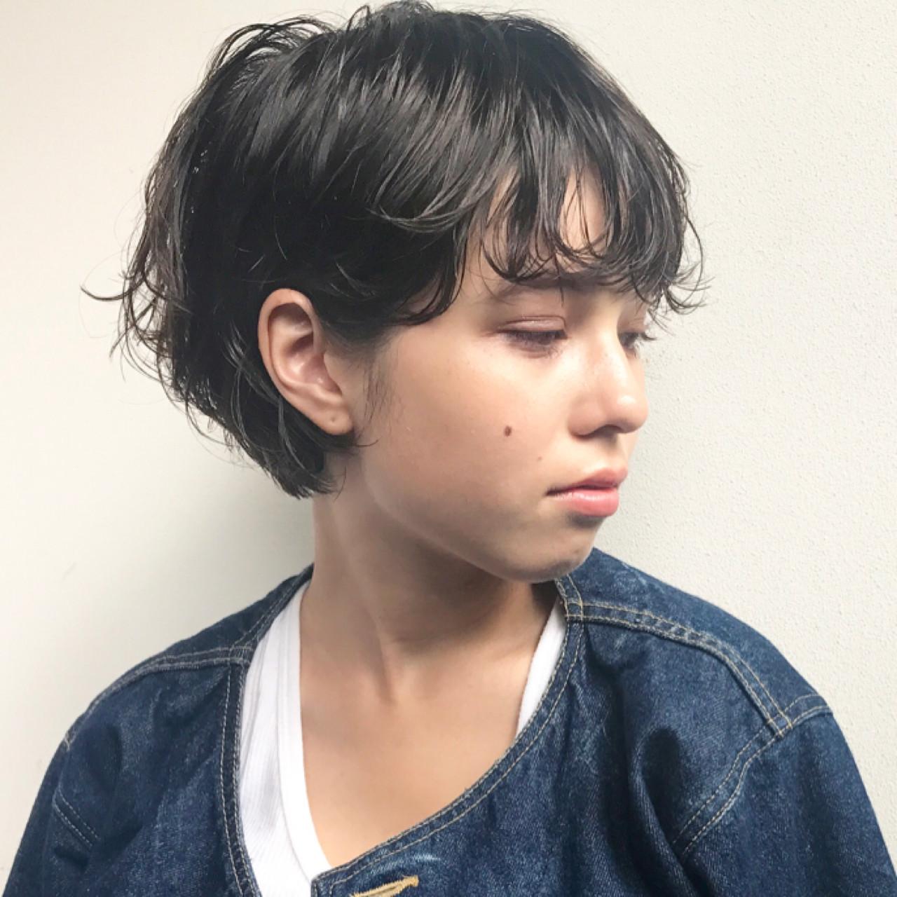 黒髪ショートボブのヘアカタログ♡前髪ありなしパーマまで徹底解説!の17枚目の画像