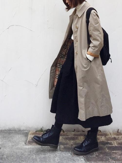 【レディース&メンズ】古着で作る!バーバリートレンチ着こなし集♡