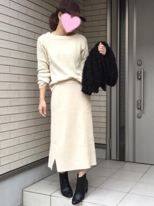 【2018年秋冬】上級者コーデをニットアップでかなえる♡の5枚目の画像