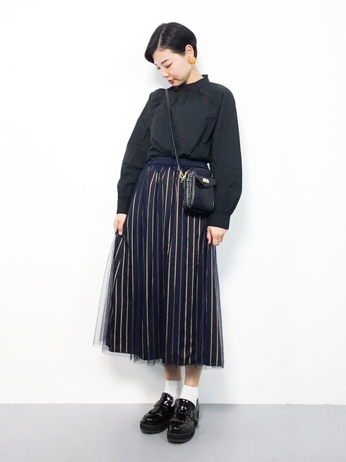 1着はもっていたい!ストライプスカートで作る旬顔コーデ25選♡の26枚目の画像