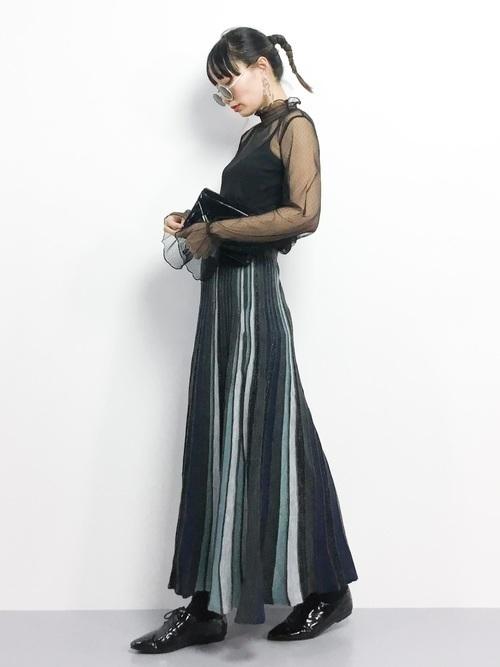 1着はもっていたい!ストライプスカートで作る旬顔コーデ25選♡の23枚目の画像
