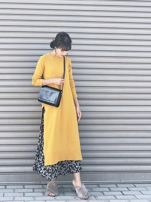 からし色は秋冬~春のトレンドカラー♡おすすめ黄色コーデ30選!の26枚目の画像