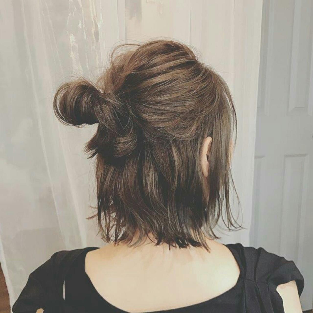 髪型,アレンジ,ショート,簡単