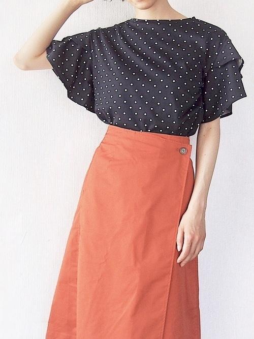 【旬ビタミンカラー】オレンジスカートの着こなしかたをレクチャー!の10枚目の画像