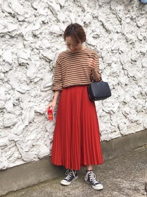 【旬ビタミンカラー】オレンジスカートの着こなしかたをレクチャー!の12枚目の画像