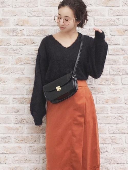 【旬ビタミンカラー】オレンジスカートの着こなしコーデ大特集!の17枚目の画像
