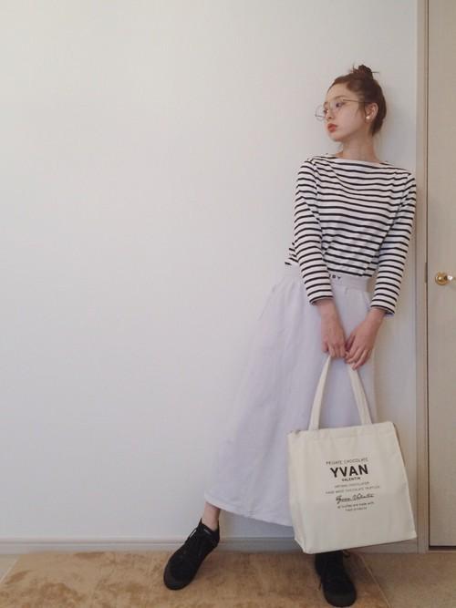 楽ちん【スウェットスカート】を着まわせ♡春夏秋冬コーデまとめの3枚目の画像