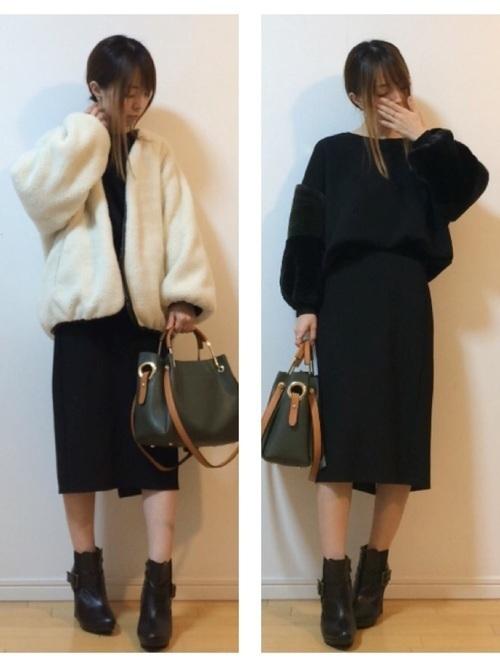 楽ちん【スウェットスカート】を着まわせ♡春夏秋冬コーデまとめの17枚目の画像