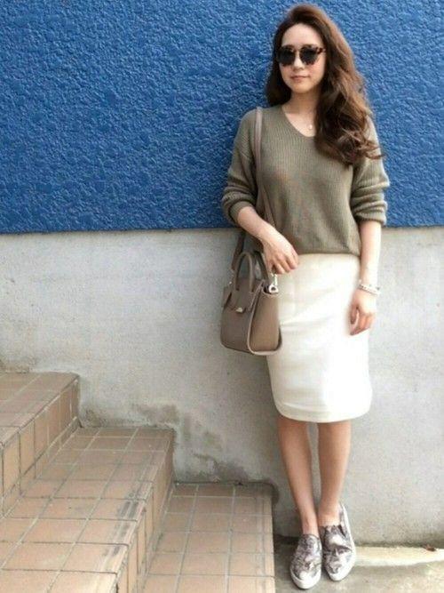 楽ちん【スウェットスカート】を着まわせ♡春夏秋冬コーデまとめの6枚目の画像