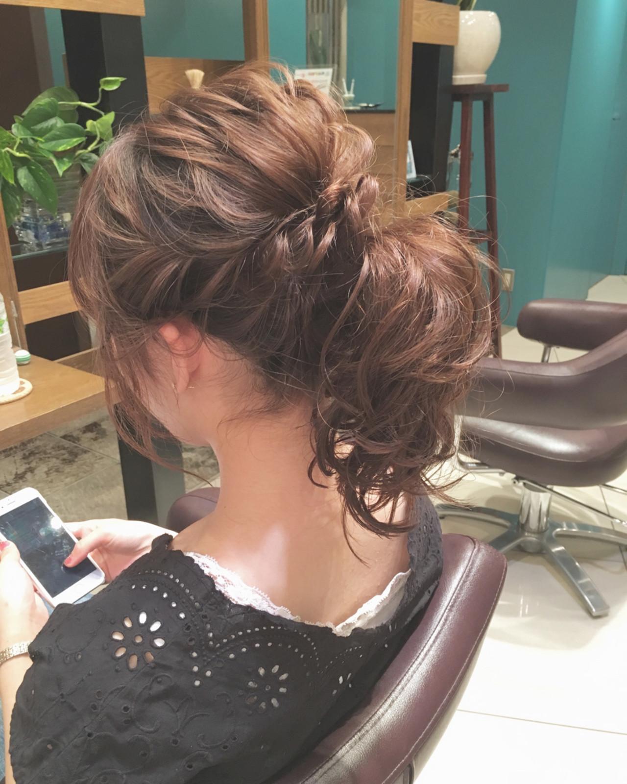 ミディアム・セミロングさん】結婚式向けヘアアレンジ教えます