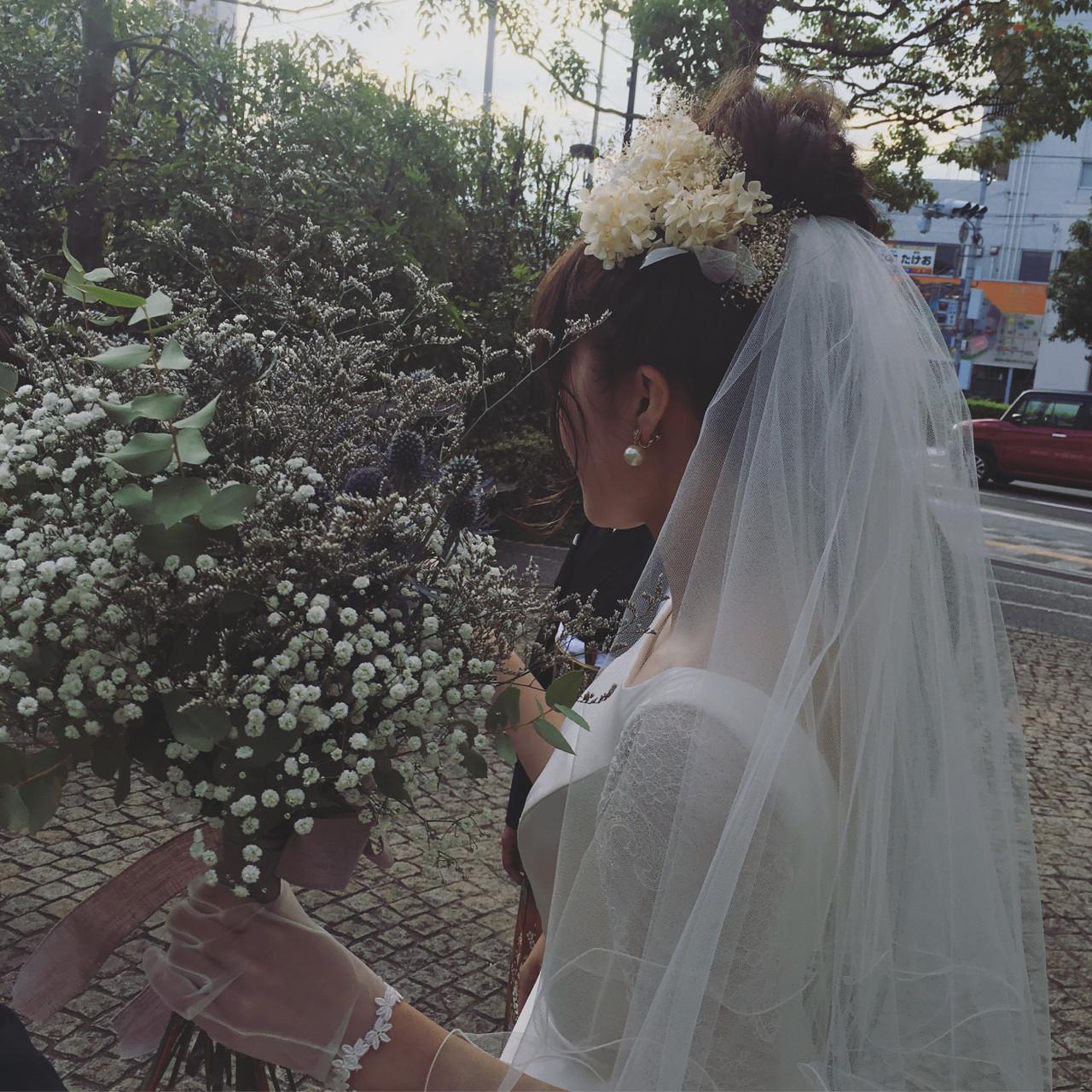 《花嫁アレンジ特集》結婚式の主役はあなた♡ステキな髪型を選ぼう!の25枚目の画像