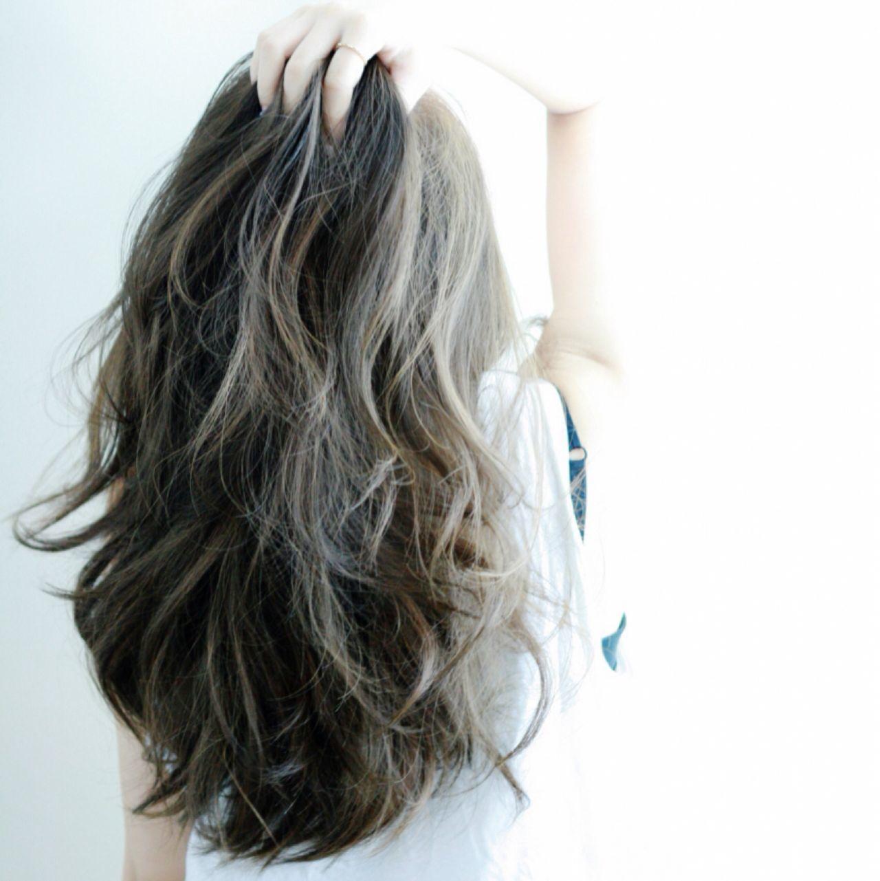 【ブリーチなしでも可愛い!】黒に近い髪色×暗めアッシュ大公開♡の15枚目の画像
